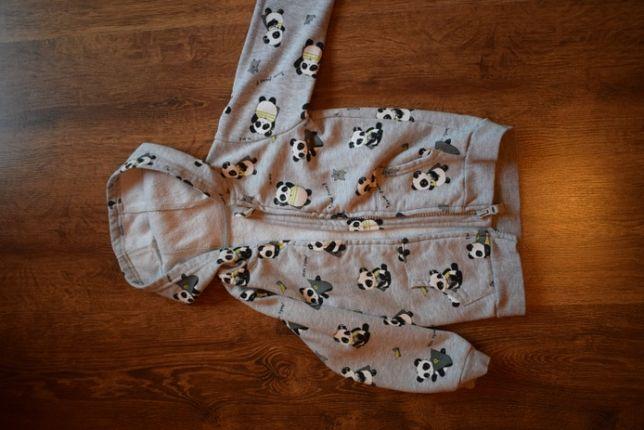 Bluza, szara z pandami