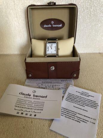 Новые швейцарские кварцевые мужские наручные часы Claude Bernard кожа