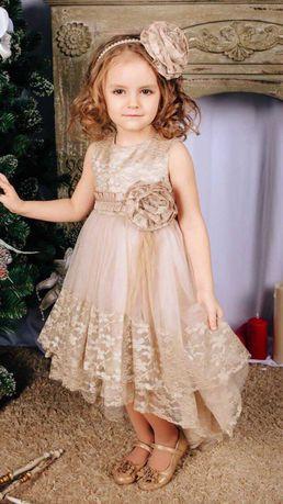 Платье нарядное на выпускной в детском саду, свадьбу, день рожденье