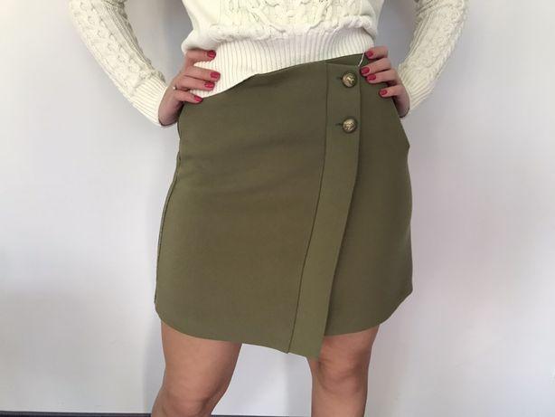 Spódniczka khaki Patrizia Pepe zielona zgniła zieleń Molieras spodnica