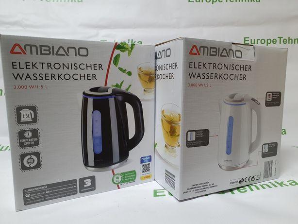Німецький електро чайник AMBIANO з регулятором температури!
