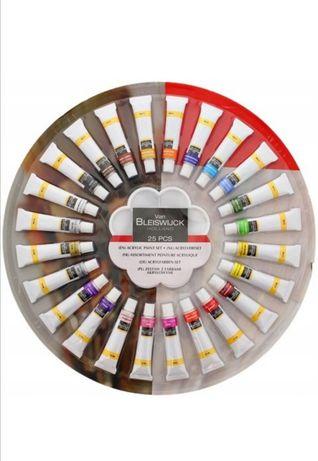 Nowy Zestaw farb akrylowych z paletka