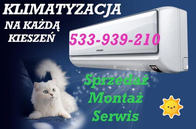 KLIMATYZACJA Z GRZANIEM od 2199 Montaż klimatyzacji Serwis Ogrzewanie!