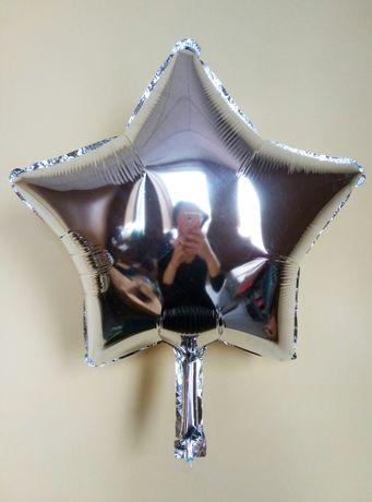 Шар фольга звезда серебро (для надувания гелием)