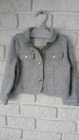 Bluza katana kurteczka szara Gymboree bawełniana dziewczęca 2/3 lata