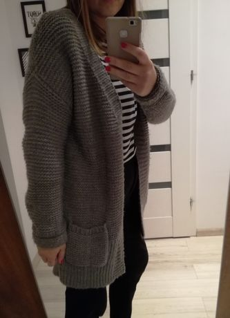 Wyprzedaż szafy! Sweter, wełna,gruby, Promod