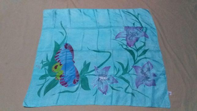 Платок женский новый,шелк натуральный-ручная роспись- ARTY