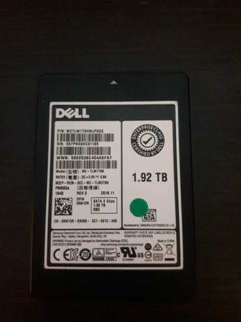 "1.92 TB ssd 2.5"" Samsung/Dell  mz7lm1t9hmjp0d3 6gbps SATA III"