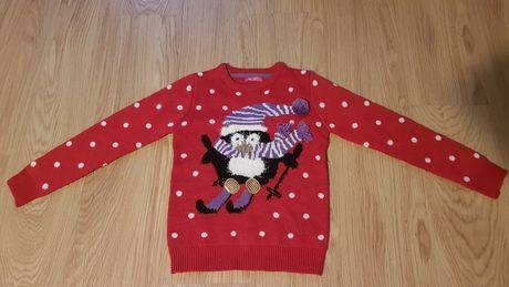 OFERTA PORTES - Camisola Vermelha de Natal com Pinguim (10-11Anos)