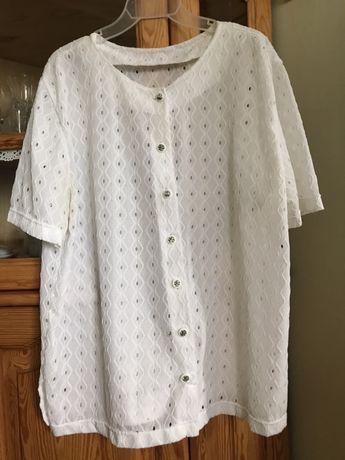 biała bluzka damska duży rozmiar XL