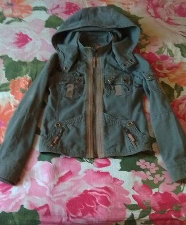 Фирменная котоновая курточка унисекс