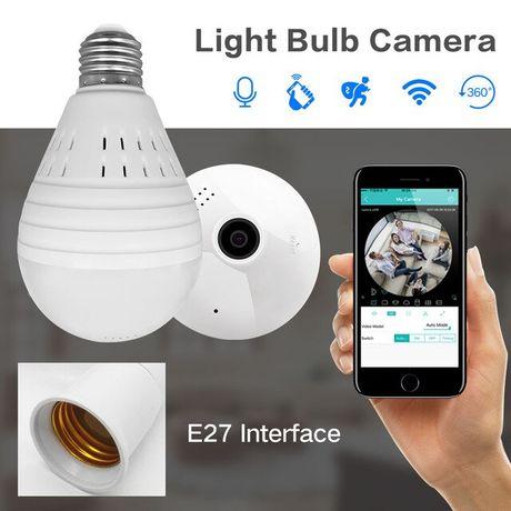 """HIT bezprzewodowa kamera IP """"rybie oko"""" w żarówce panoramiczna WIFI"""