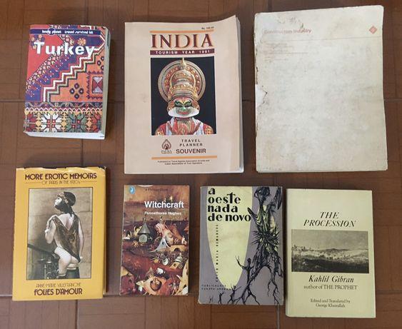 Livros antigos de 1989 a 1991