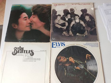 Sprzedam płyty winylowe Queen Lennon Beatles i elvis prasley