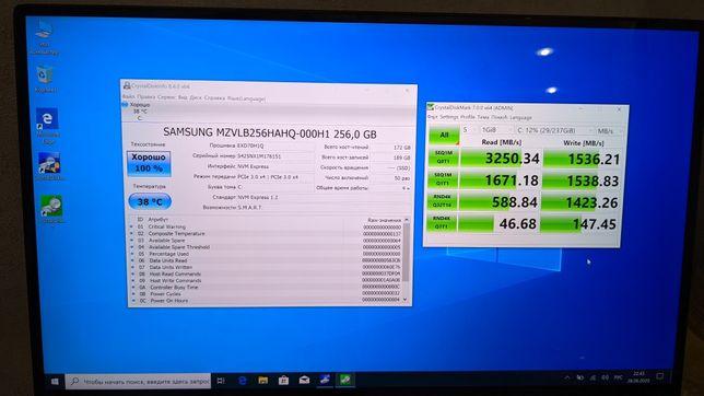 SSD Samsung 970 EVO + 256gb  (PM981a )M.2 Nvme intel Adata  Evo
