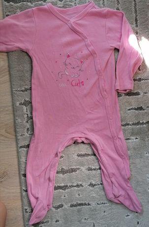 Pajacyk piżamka różowa Cool Club 74 cm kot kotek piżama