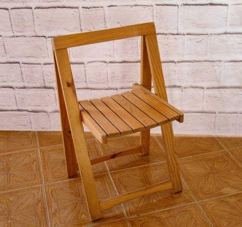 Cadeira de madeira rebatível viagem praia campo