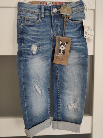 Nowe z metkami jeansy chłopięce rozmiar 98