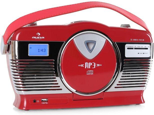 Radioodtwarzacz Auna Retro Radio CD USB MP3 LCD