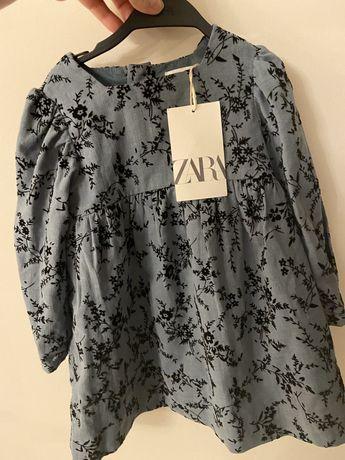 Morska sukienka Zara rozmiar 92