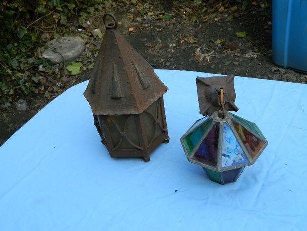 Lampiony, ozdoby kinkiety lampki ogrodowe do renowacji