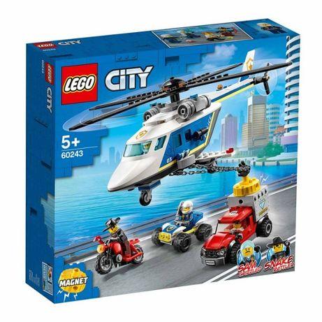Конструктор Погоня на полицейском вертолете 60243 Lego City лего сити