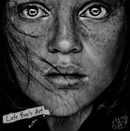 Портрет девушки (Кристина Отеро). Простой карандаш. Реализм.