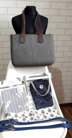 Doubleu Bag Rough Silver Drapana Zestaw XXL