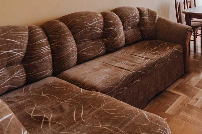 NAROŻNIK sofa rogówka kanapa ze spaniem