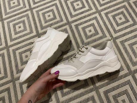 Białe buty sportowe sneakersy Parfois nowe 39