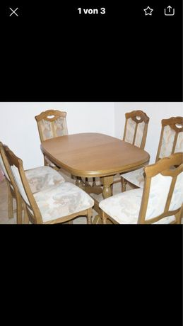 Stol +6 krzesel komplet