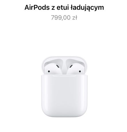 Nowe Apple Airpods2 z etui ładującym
