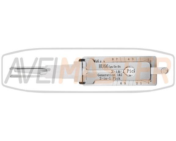 Chave Abertura Veiculos HU66 Geração 1-2-3 Grupo VAG - Ref.404350