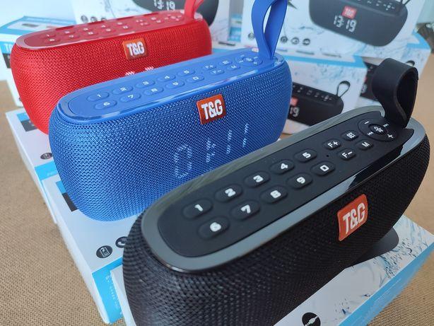 Oryginalny głośnik bluetooth przenośny TWS TG zegar radio odtwarzacz
