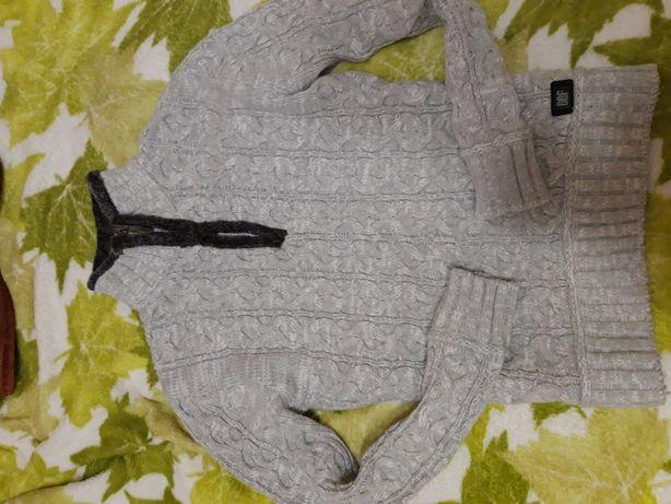 Мужской свитер, вязаный свитер