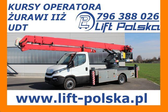 Żuraw samojezdny dekarski ciesielski kursy operatora od LIFT POLSKA