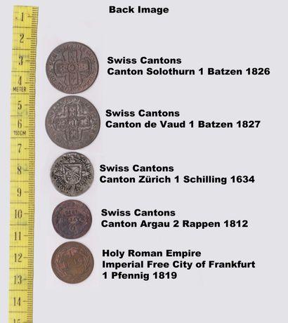Moedas Raras Cantões Suíços e Sacro Imperio Romano (1634.1826)