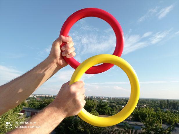 РАЗНЫЕ ЦВЕТА! Кольца гимнастические, деревянные