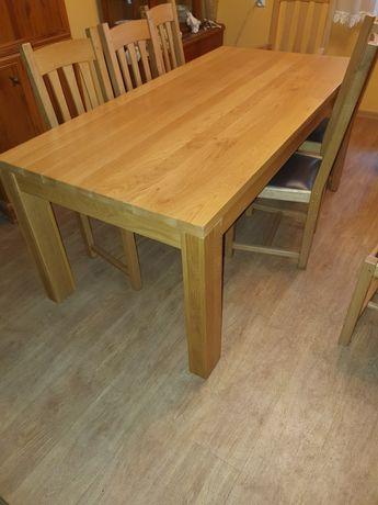 Sprzedam stół z krzesłami dębowe dąb