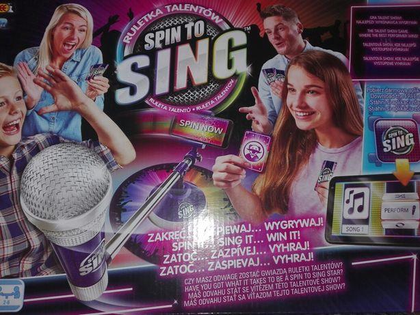 Spin to sing gra talent show.Najlepszy wykonawca wygrywa.