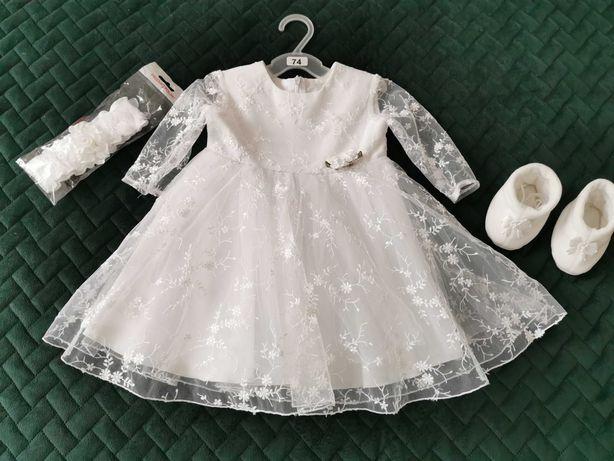 Sukienka na chrzest lub inne ważne uroczystości