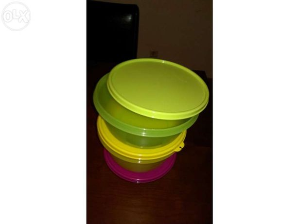 tupperware 3 tigelas espaciais capacidades:1l/1,5l/2l