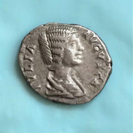 moeda romana-denário JULIA DOMNA 196-211, prata