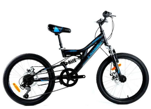 Велосипед горный детский 20 дюймов Crosser Smart спортивный двухподвес