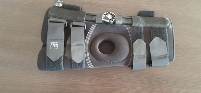Krótka orteza - stabilizator kolana z zegarem - regulacja kąta zgięcia