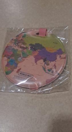 Etiqueta para Mala de Viagem WORLD MAP SELADA