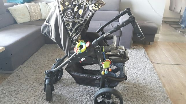 Wózek 3w1 marki Retrus (gondola, spacerówka, nosidełko)