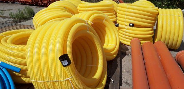 Труба дренажная гофрированная 100, 160, 200, 315, 400. Колодцы пластик