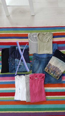 Ubrania ciążowe, spodnie, jeansy, bluzki, H&M, Happy Mum