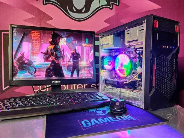 Компьютер пк для игр, учебы и работы + монитор + клавиатура  мышь  ССД